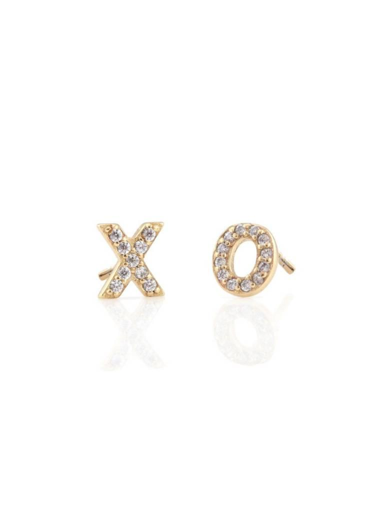 Pave XO Stud Earrings