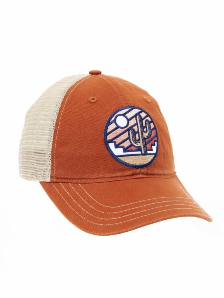 Stained Sunrise Trucker Hat, Rust