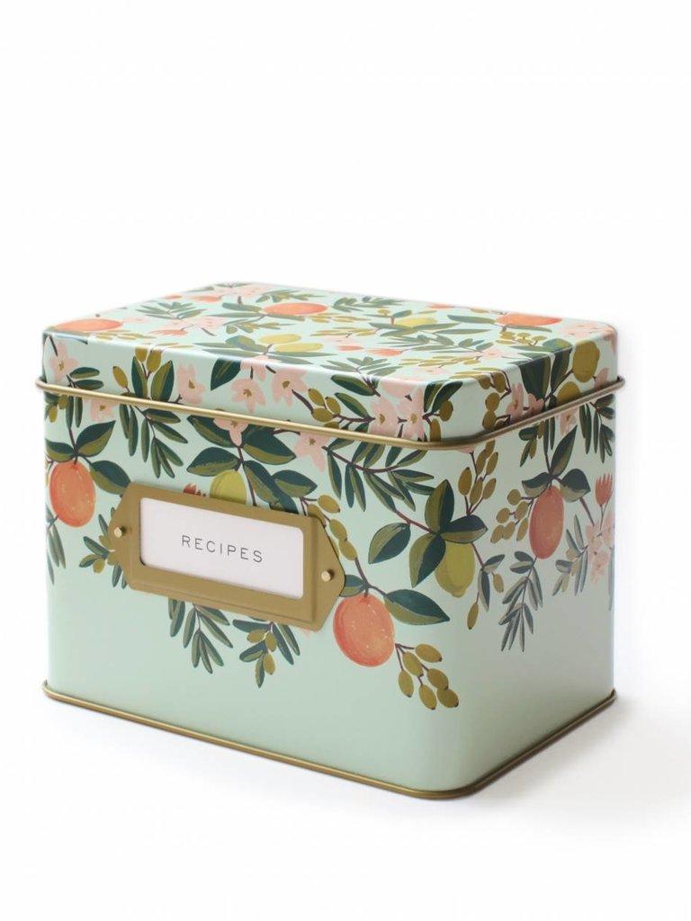 Citrus Floral Recipe Box