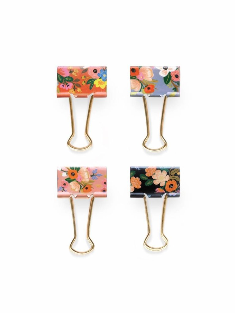Lively Floral Binder Clips