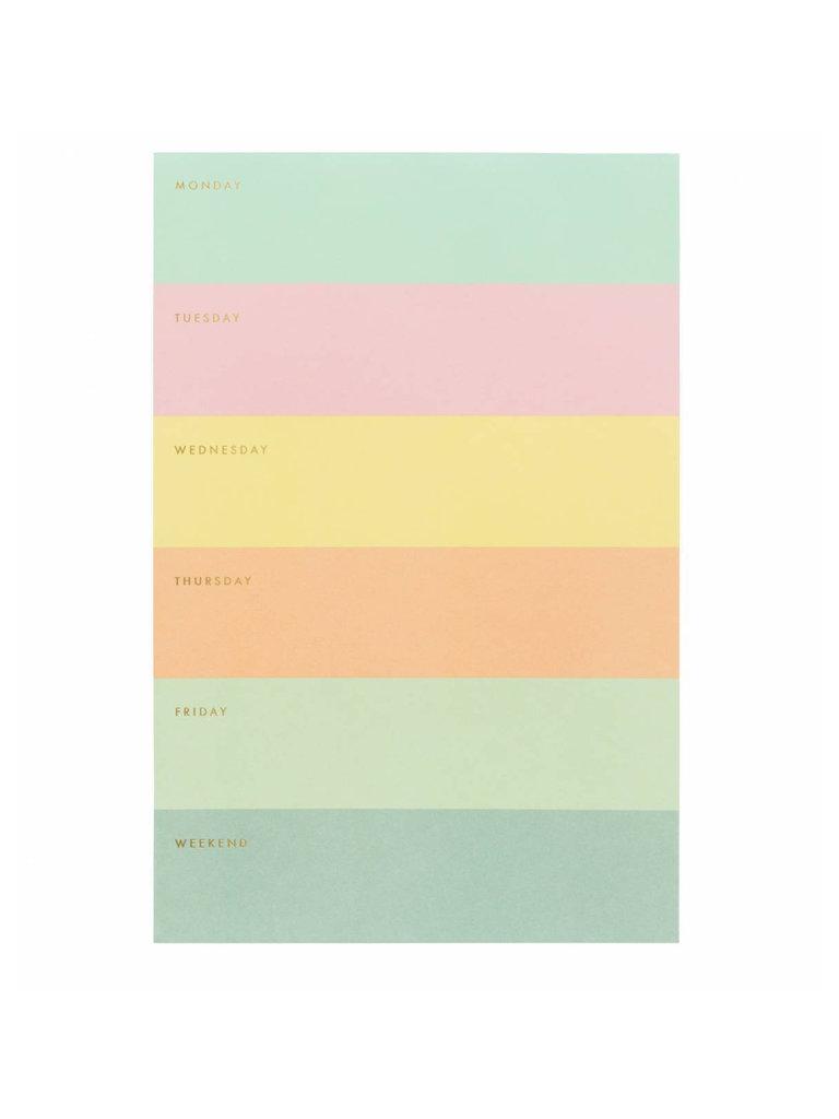 Color Block Memo Notepad