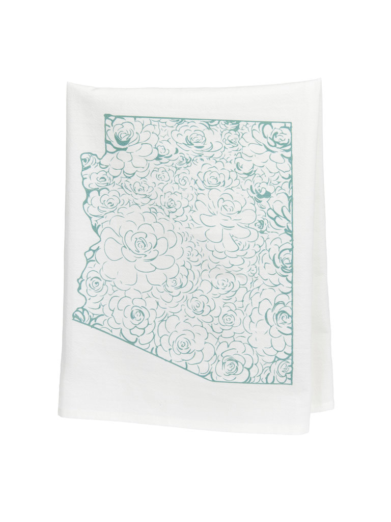Succulent AZ Tea Towel