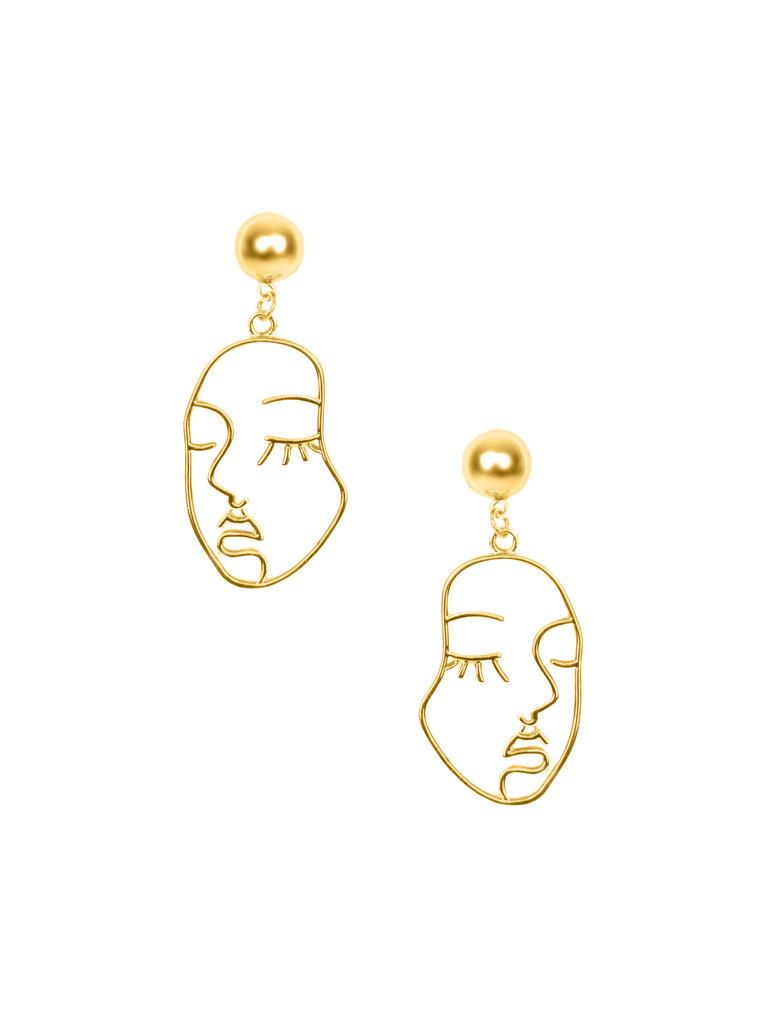 Face Outline Earrings