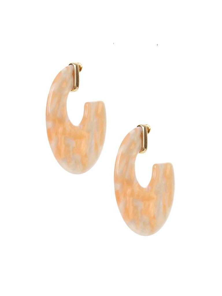 Flat Pastel Circle Earrings