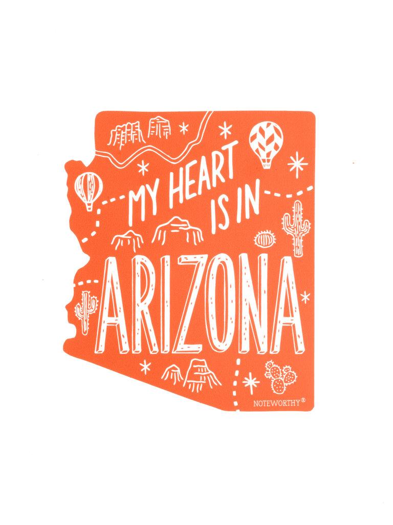 My Heart is in Arizona Sticker