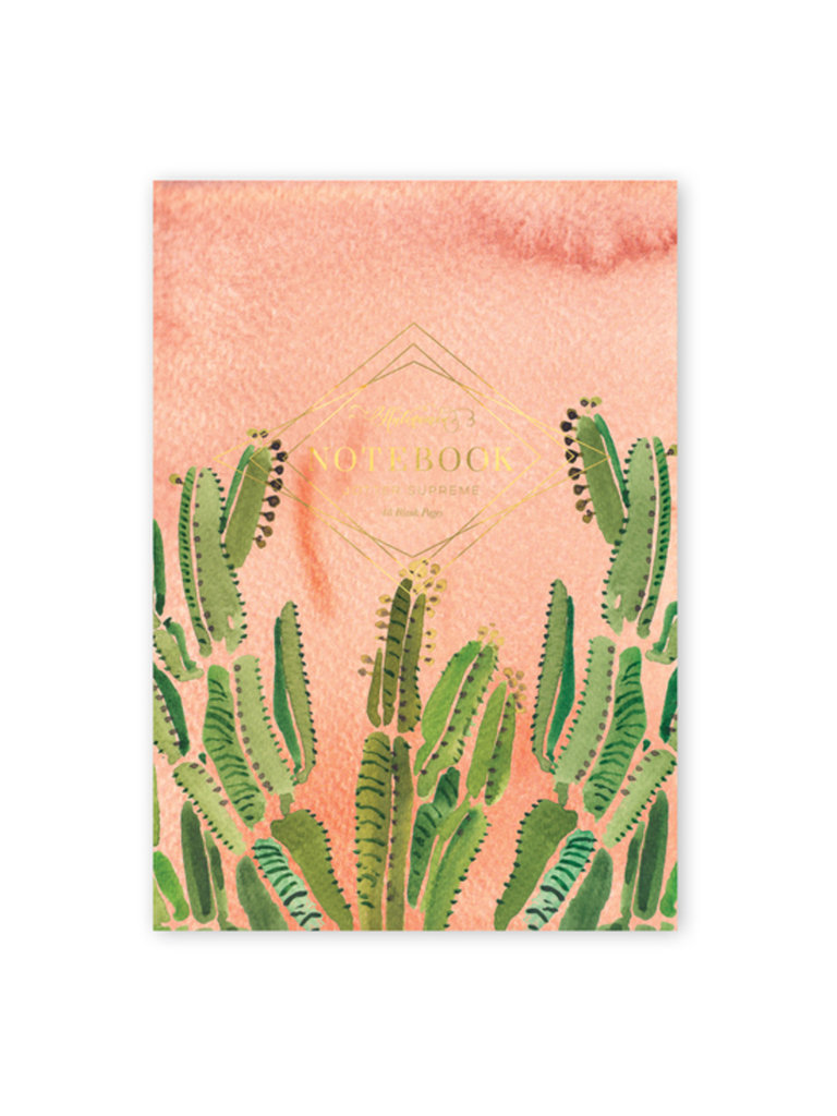 Coral Cactus Notebook