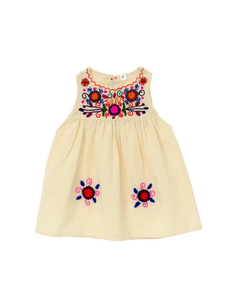 Jardinita Dress, Cream
