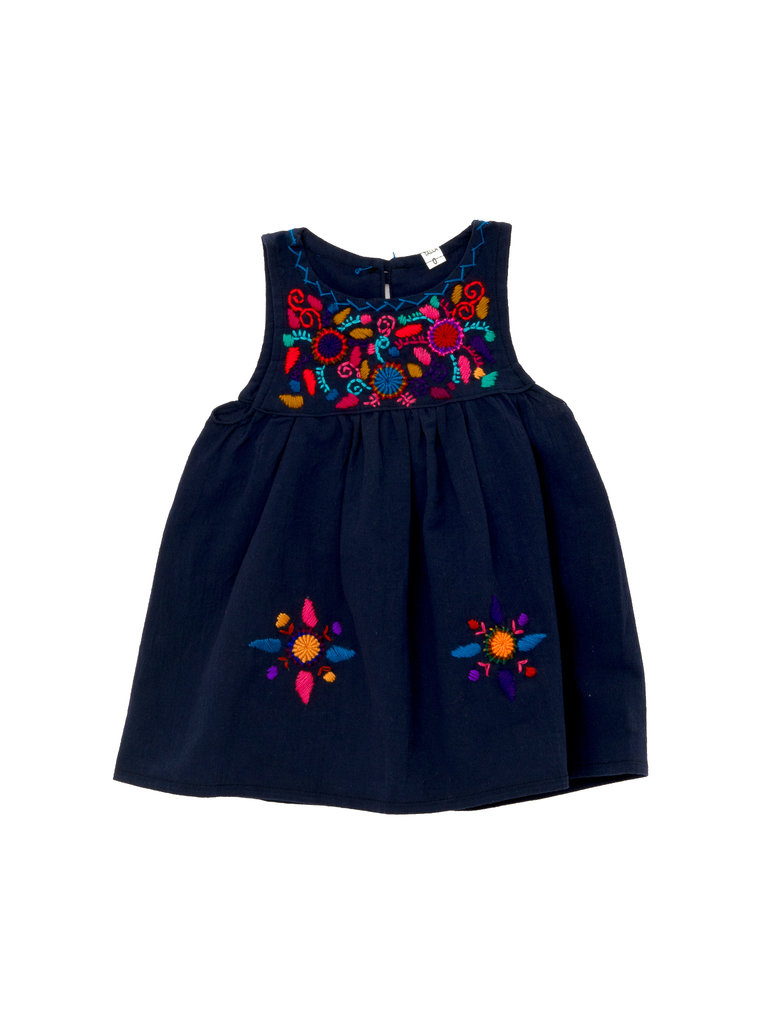 Jardinita Dress, Navy