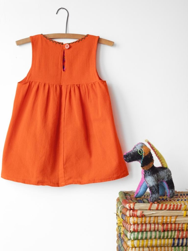 Jardinita Dress, Orange