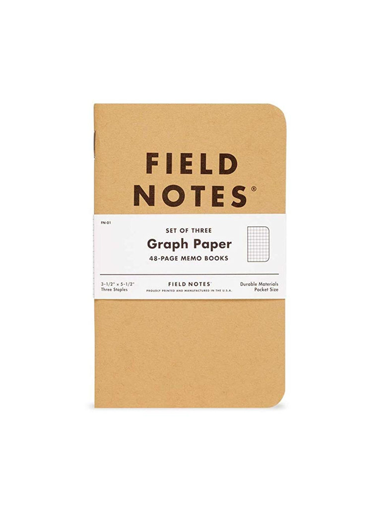 Field Notes Kraft Memo Books, Graph