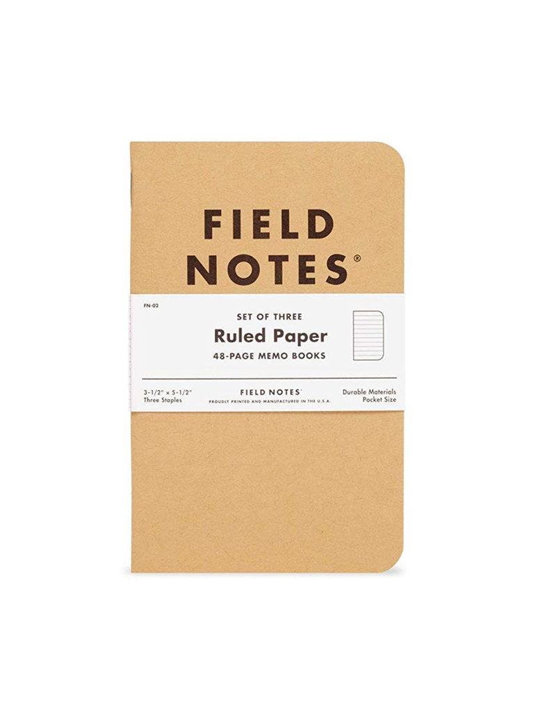 Field Notes Kraft Memo Books, Ruled