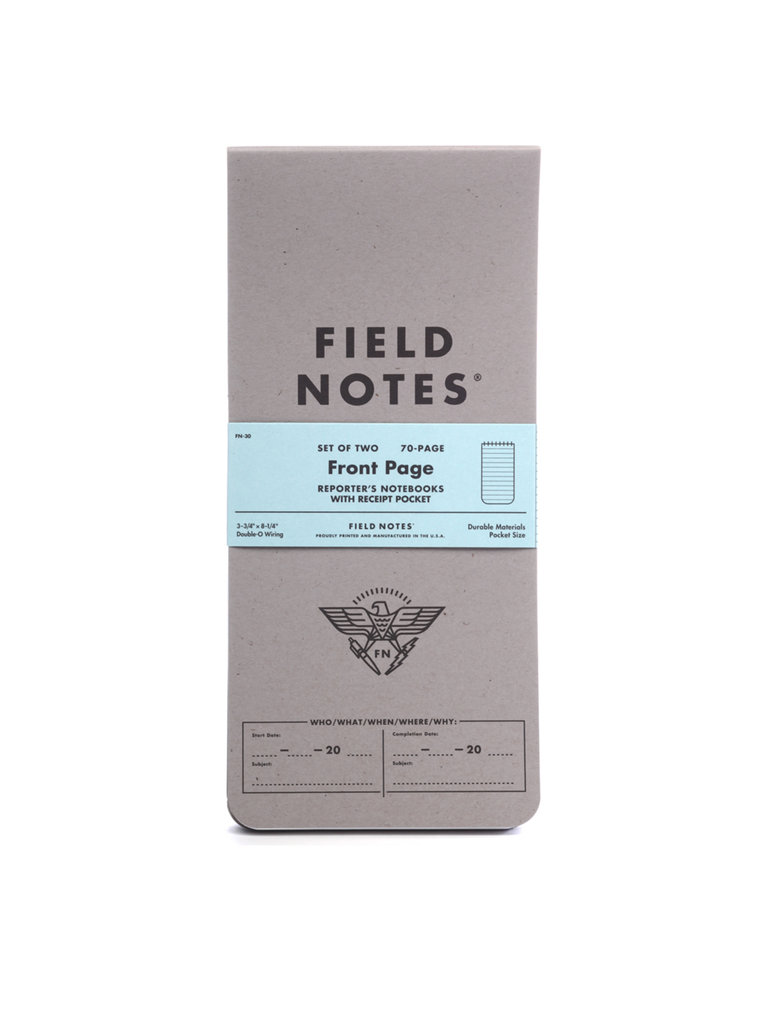 Field Notes Front Page Notebooks
