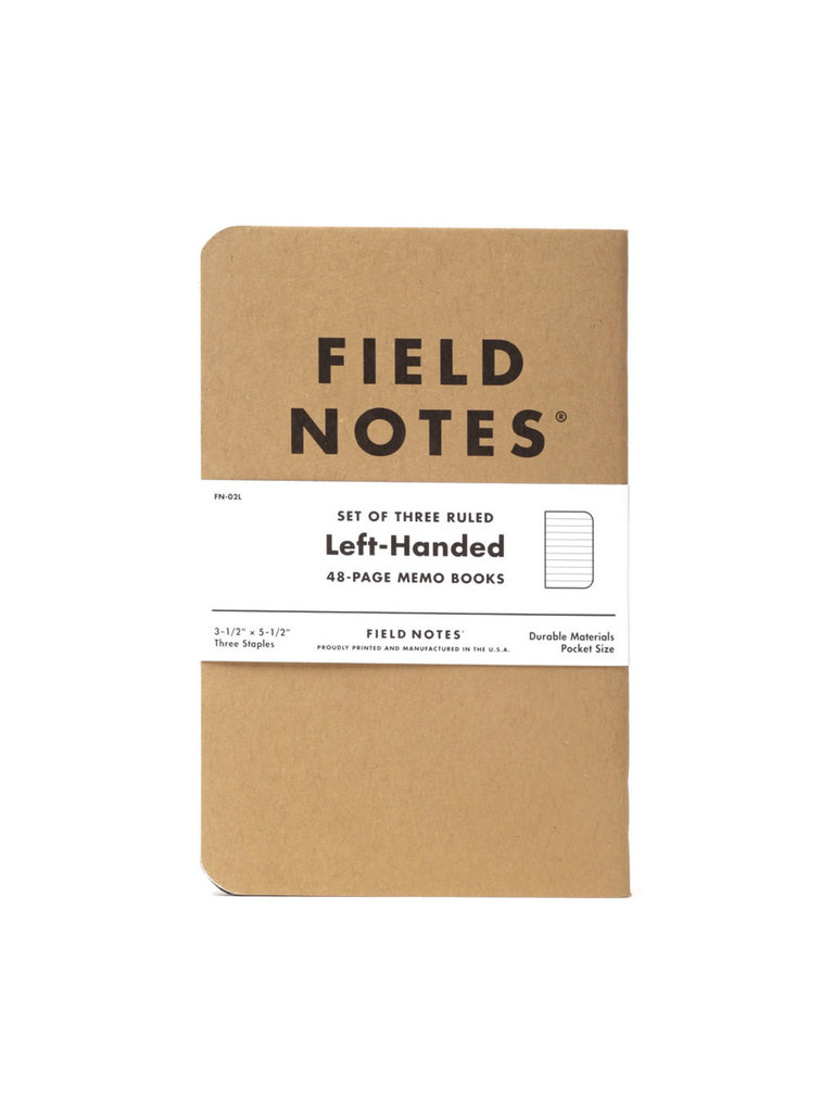Field Notes Left-Handed Memo Books, Ruled