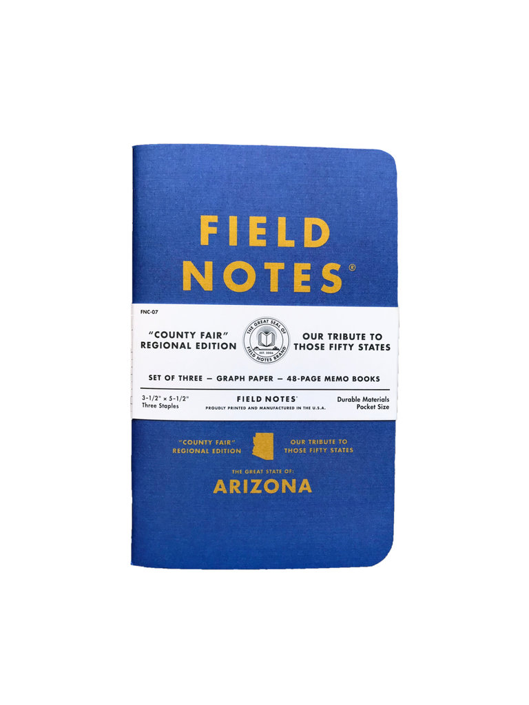 Field Notes County Fair Memo Books, Arizona