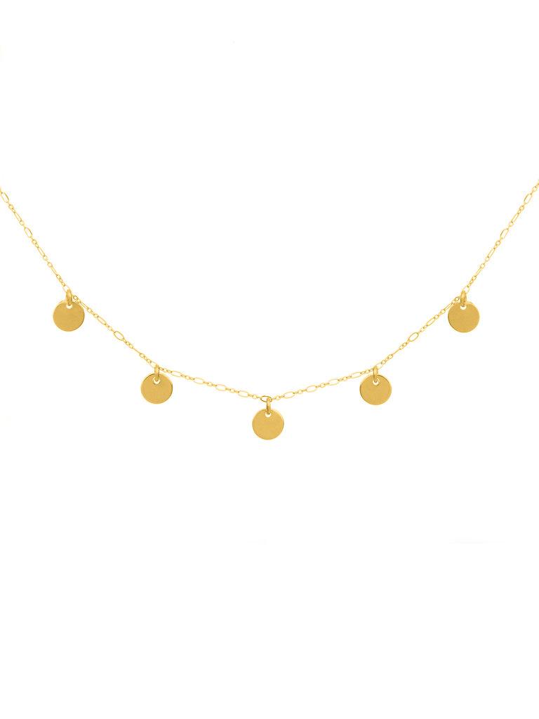 Gold Disks Necklace