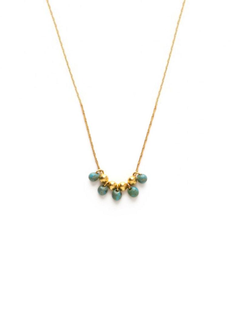 Bayas Necklace, Turquoise