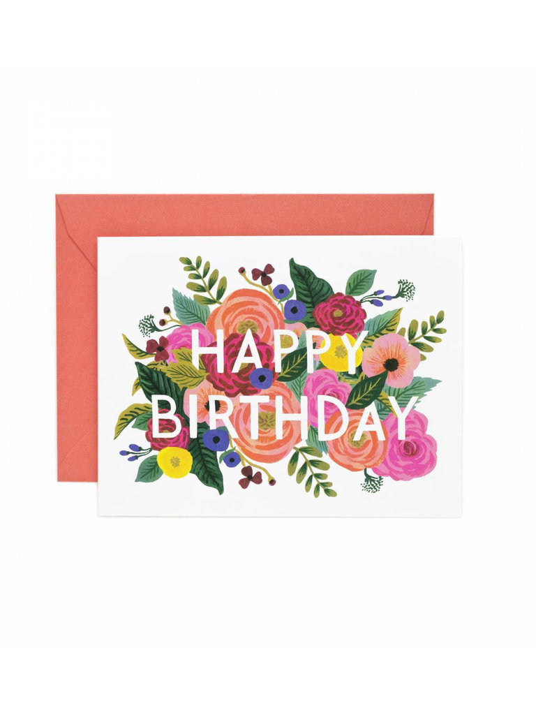 Juliet Rose Birthday Card