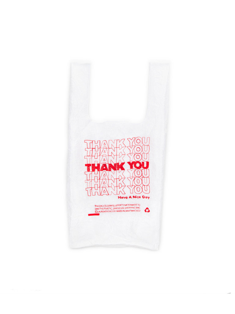 Red Thank You Shopping Bag