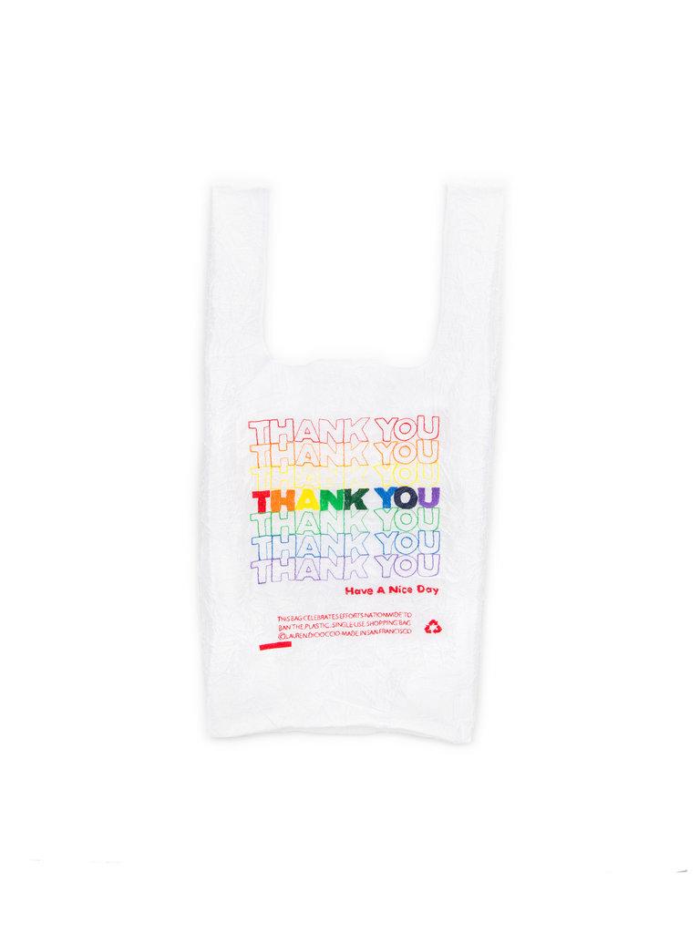 Rainbow Thank You Shopping Bag