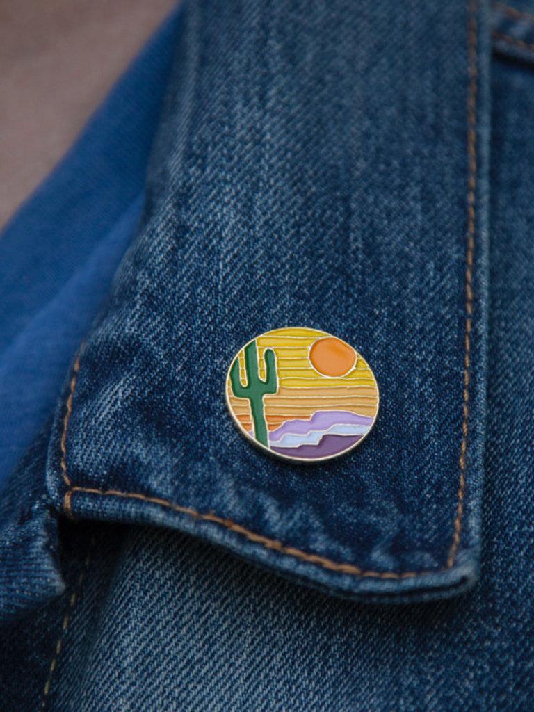 Desert Sunset Enamel Pin