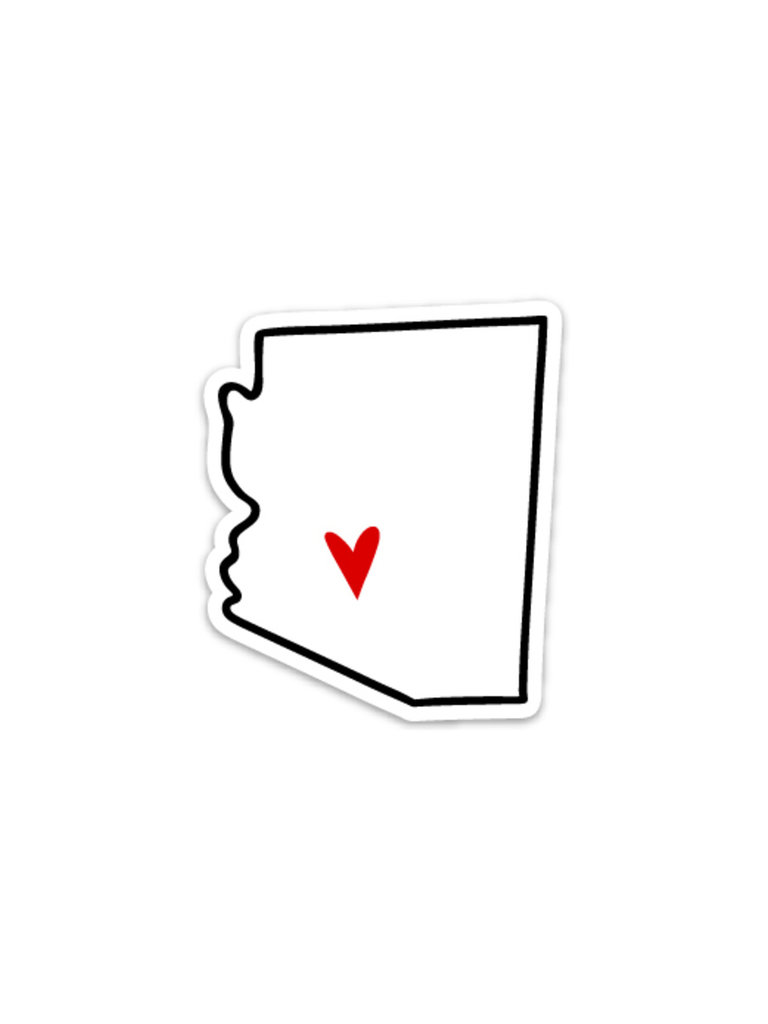AZ Heart Sticker