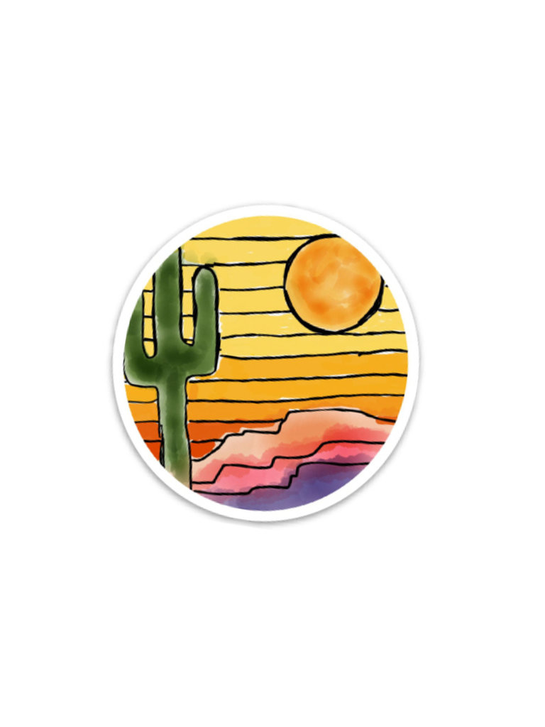Desert Sunset Sticker