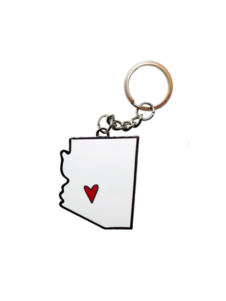 AZ Heart Keychain