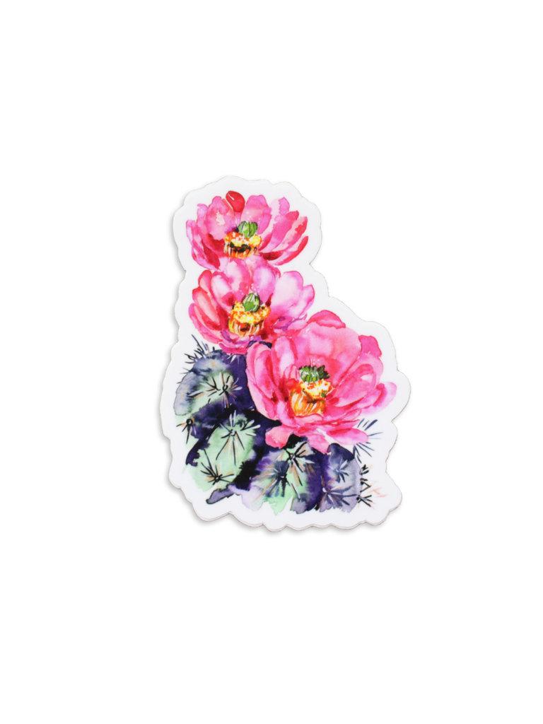 Pink Claret Cup Sticker