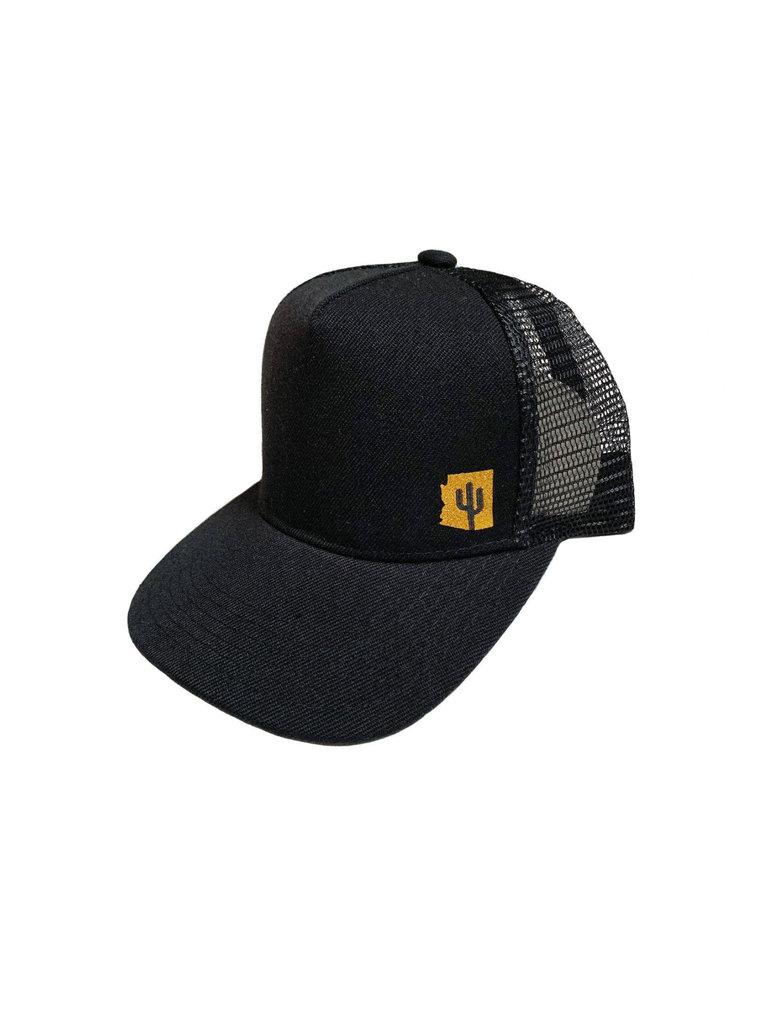 Black & Gold Arizona Youth Trucker Hat