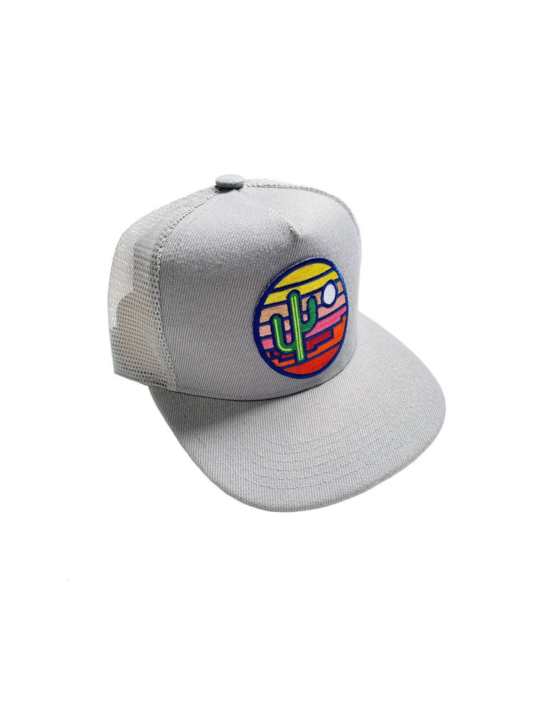 Grey Stained Glass Youth Trucker Hat