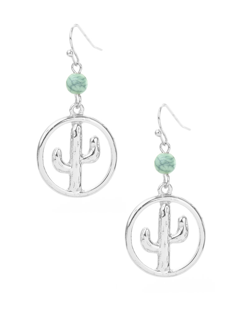 Frances Boutique Phoenix Arizona Souvenirs Cactus Bead Earrings