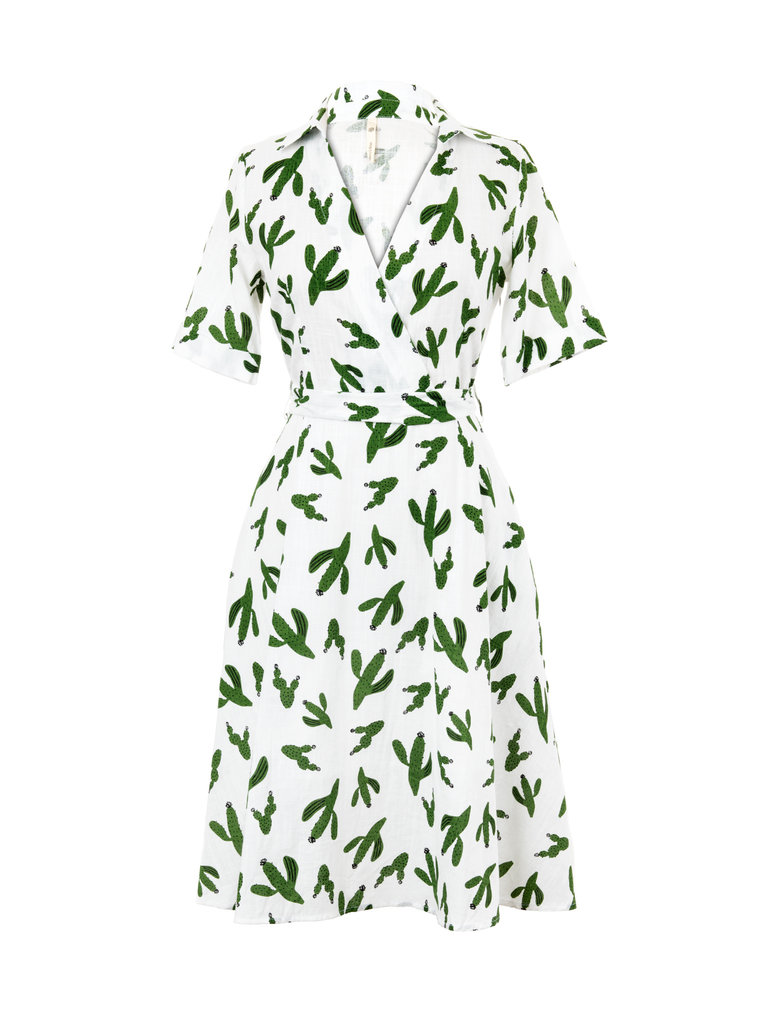 Frances Boutique Phoenix Arizona Cactus Print Wrap Dress