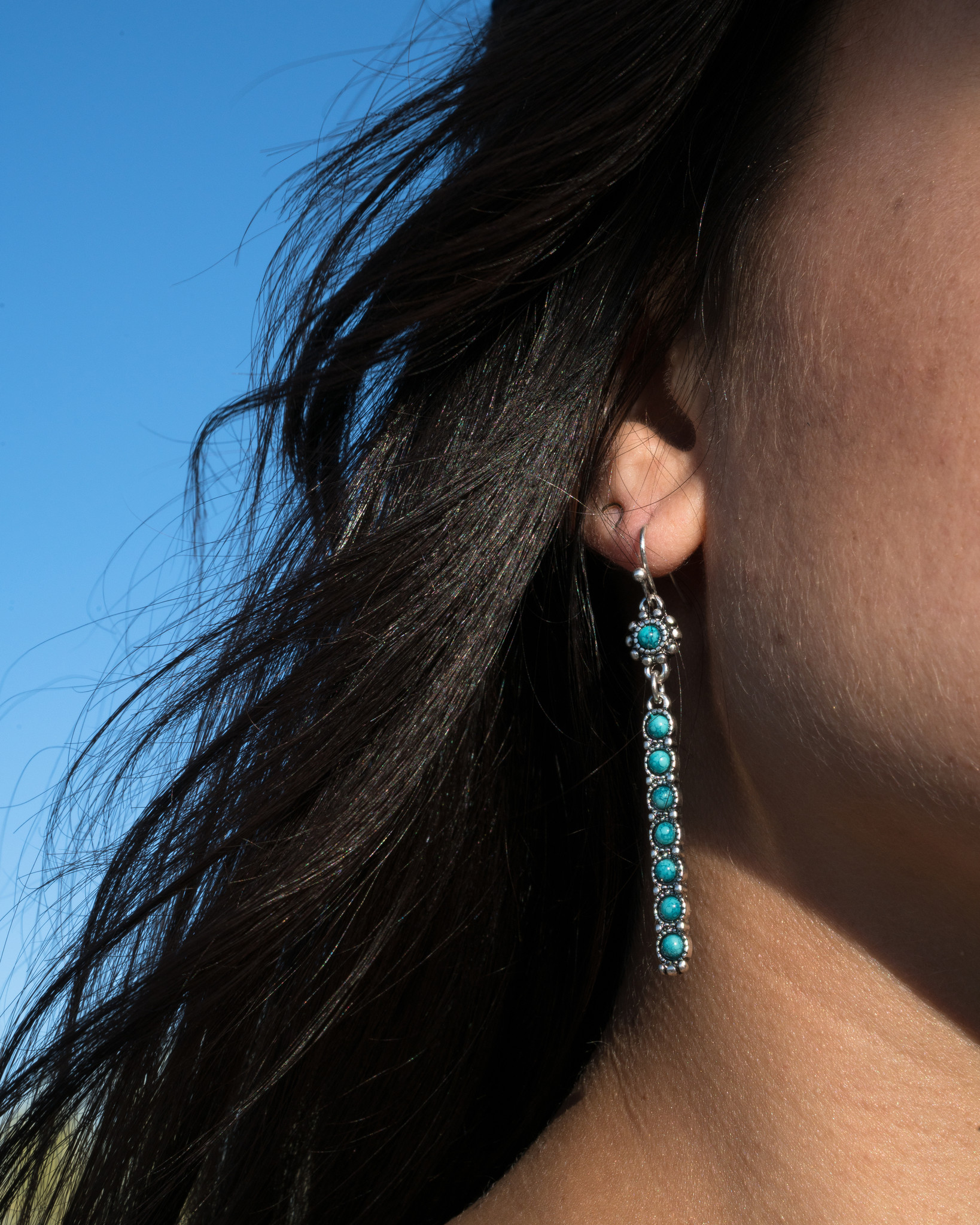 real turquoise jewelry earrings