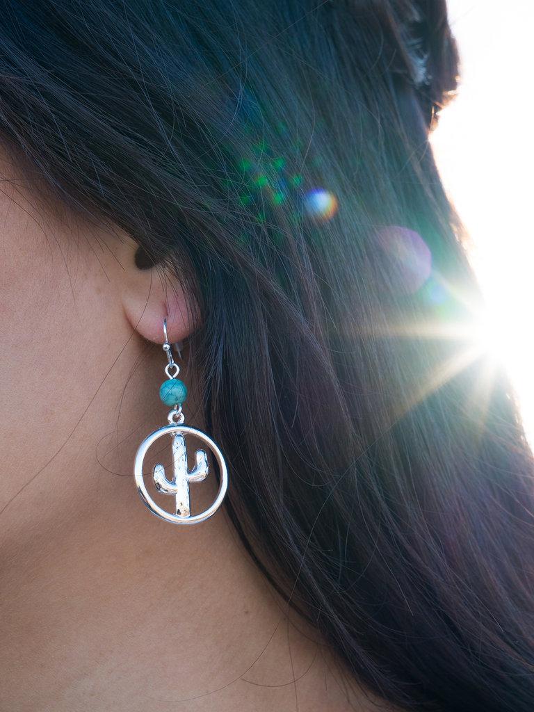 Cactus Bead Earrings