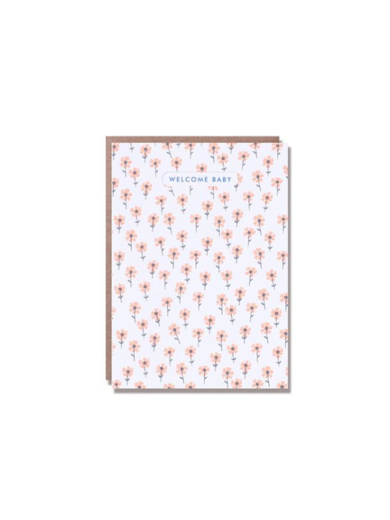 Welcome Baby Floral Card