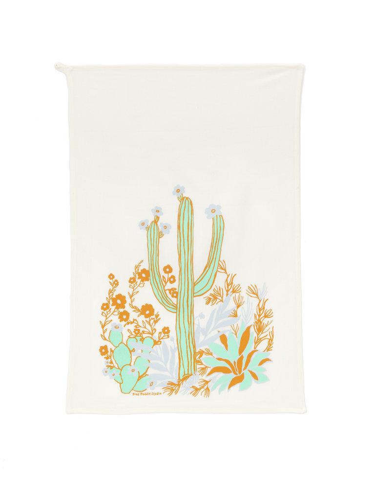Saguaro & Wildflowers Tea Towel