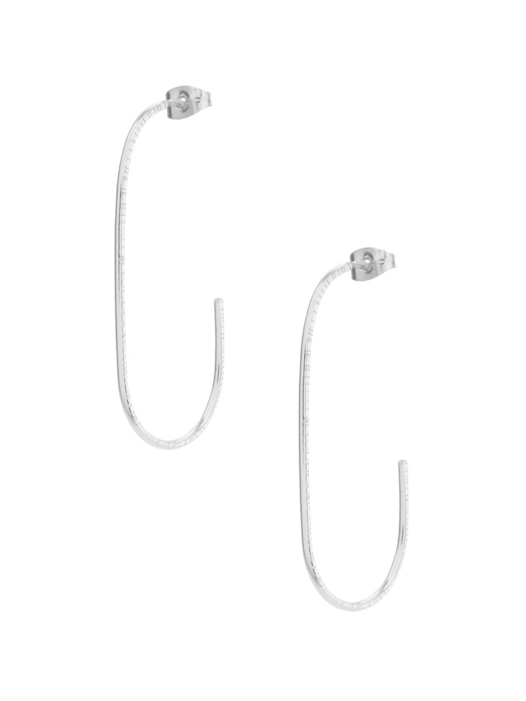 Oblong Hoop Earrings
