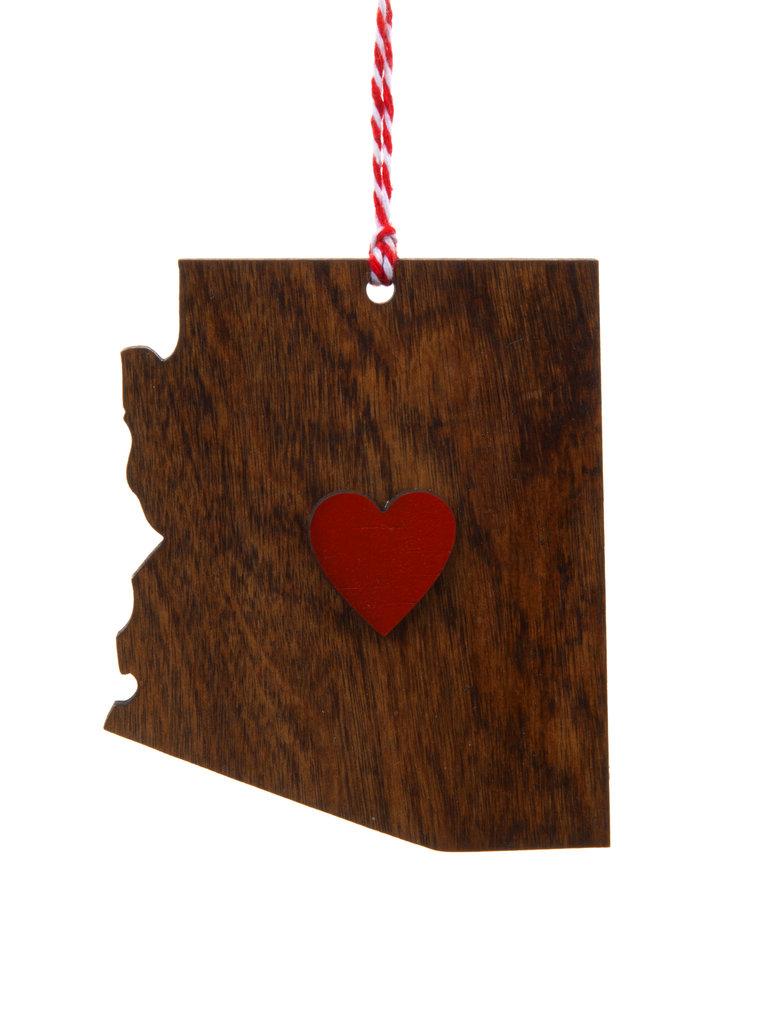 Heart Arizona Ornament
