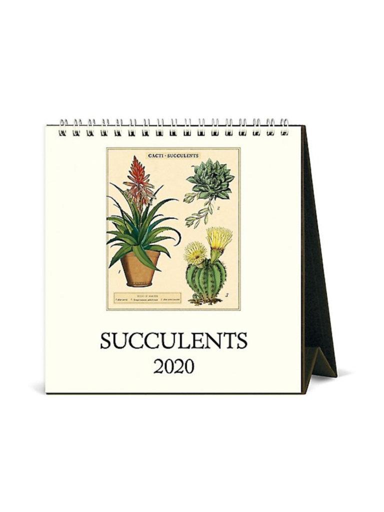 Succulent Desk Calendar