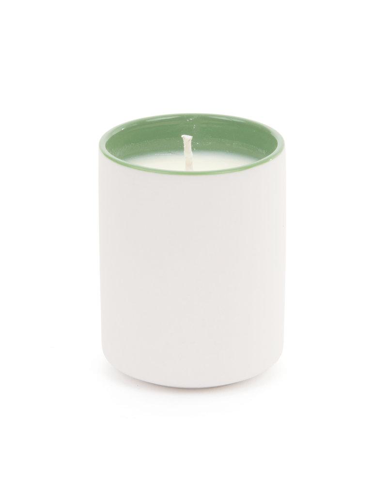 Color Block Mini Candle, White Tea & Thyme