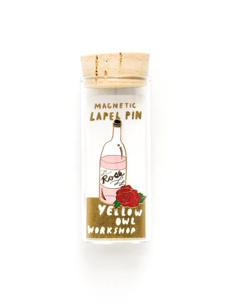 Rosé Magnetic Lapel Pin