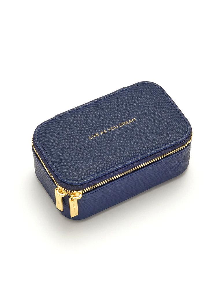Mini Navy Jewelry Box