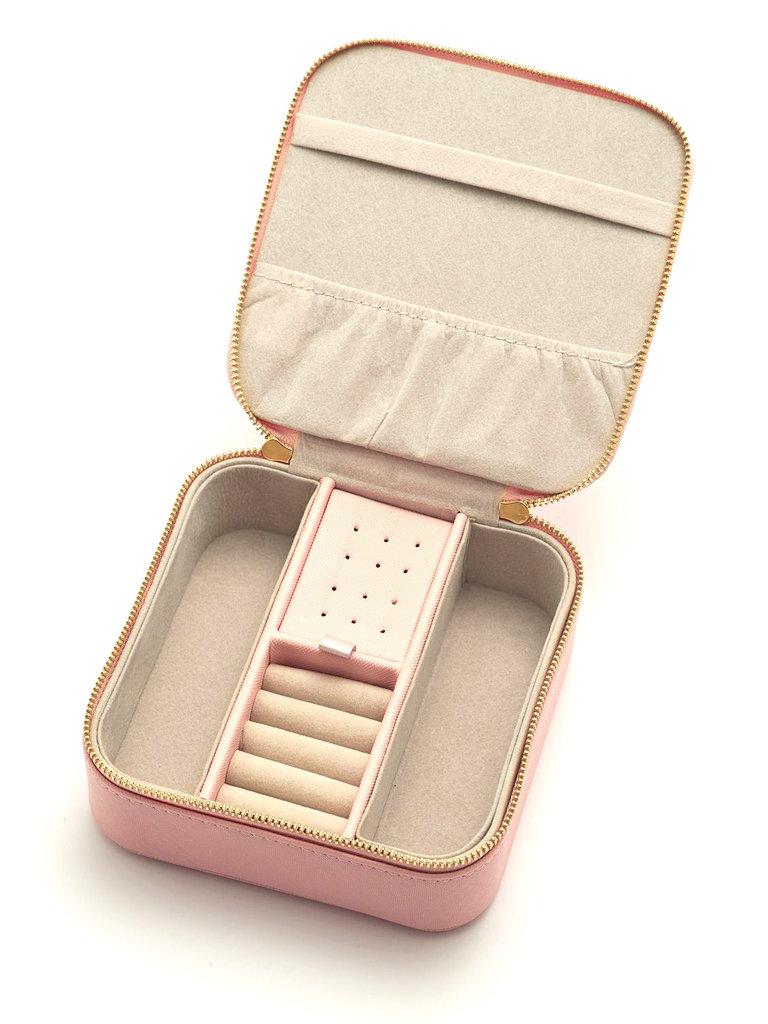 Square Blush Jewelry Box