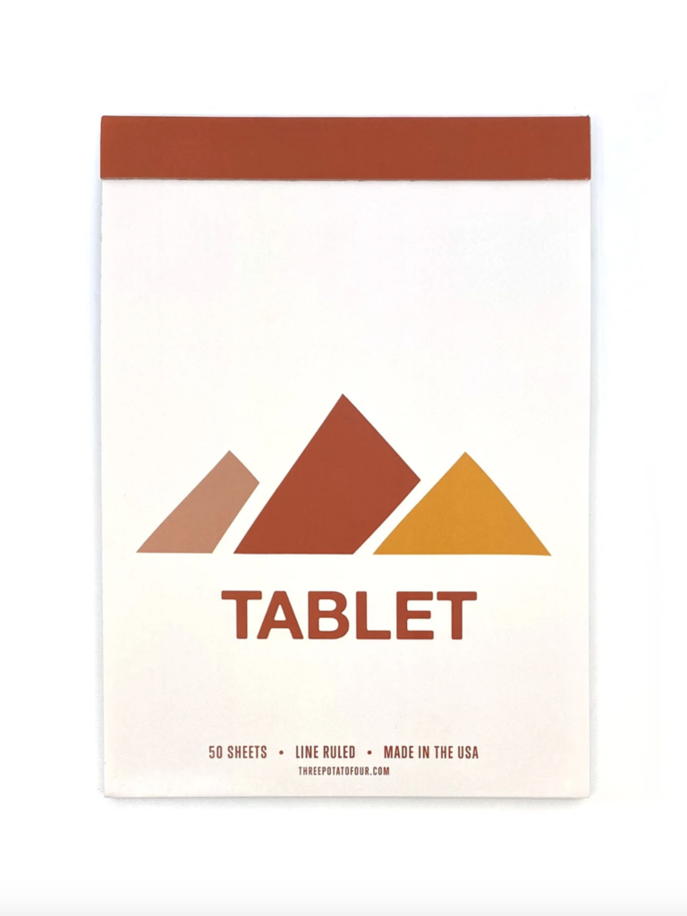 Tablet Mountains Notepad