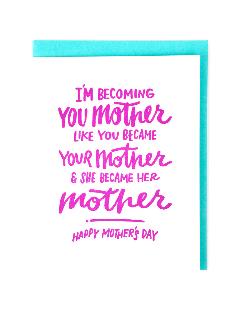 Becoming Your Mother Card