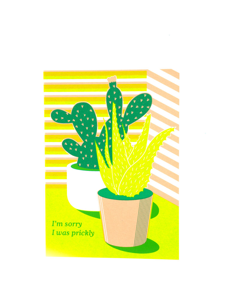 Sorry I was Prickly Card