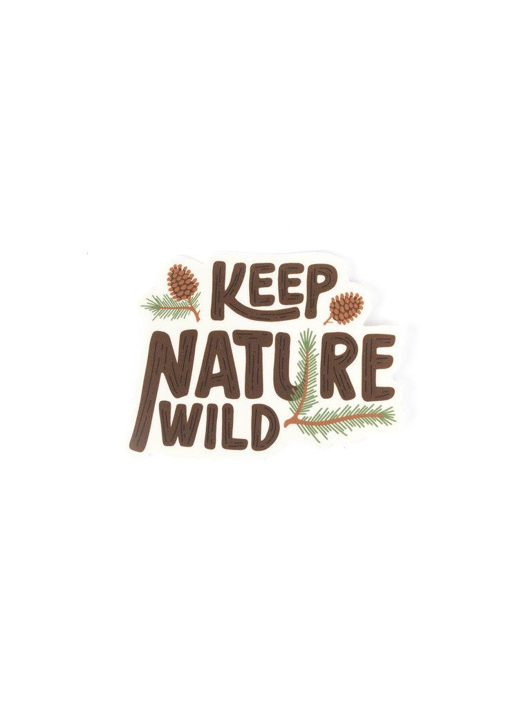 Keep Nature Wild Pinecone Sticker