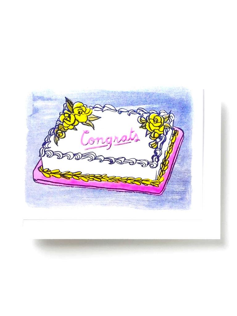 Congrats Cake Card
