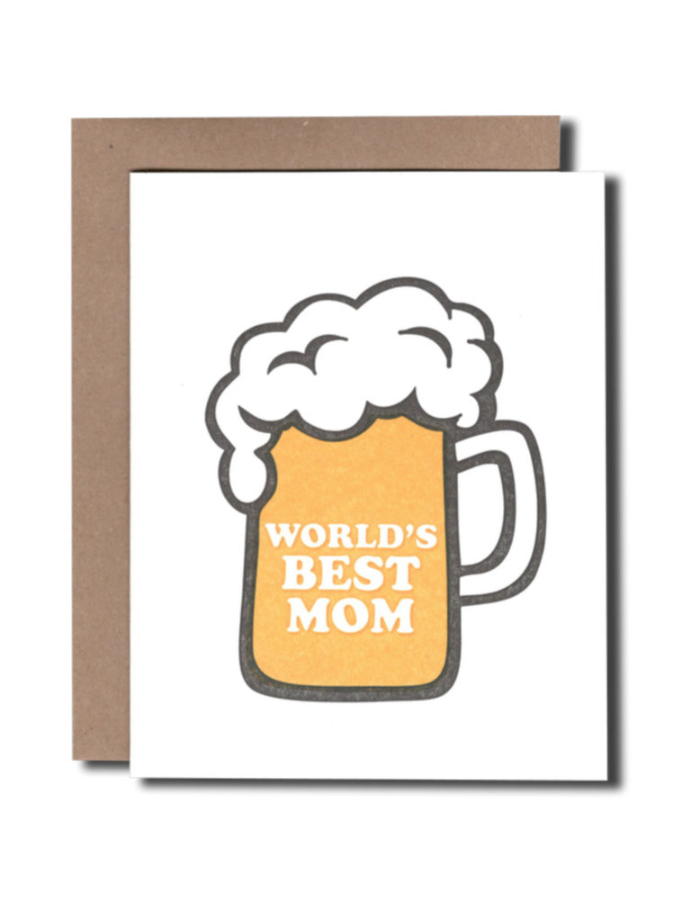 World's Best Mom Beer Card