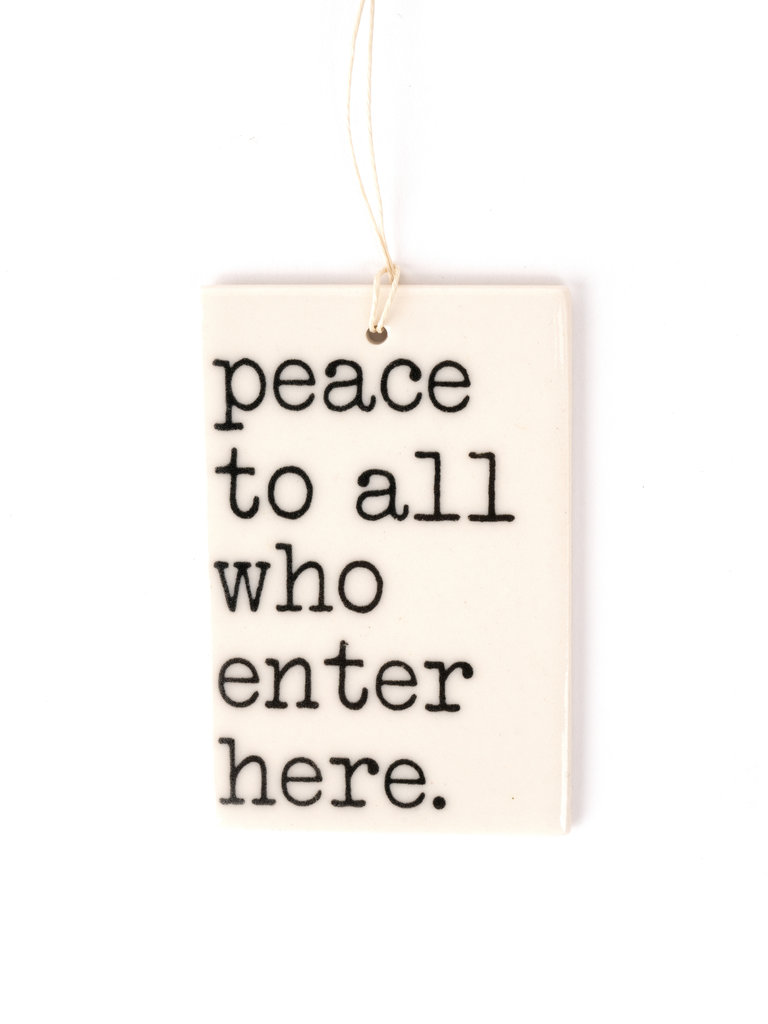 Peace To All Ornament